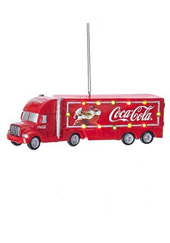 """Kurt Adler 5"""" Coca-Cola Truck w/Lights Standard"""