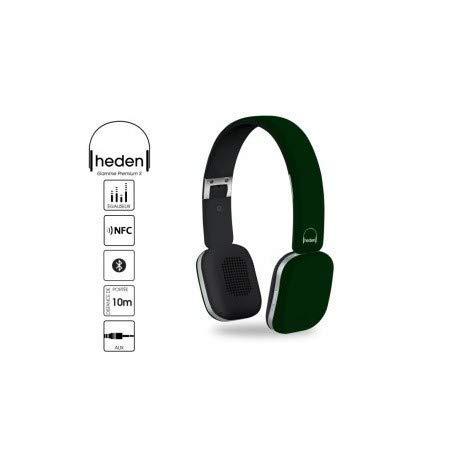 Heden Premium S - Auriculares de Diadema con micrófono y Bluetooth, Color Verde