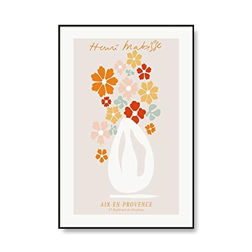 Arte astratta della parete del fiore Matisse colorato, poster nordici e immagini della parete della mostra stampata, pittura su tela senza cornice A1 60x90cm