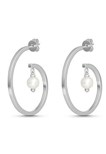 JETTE Silver Damen-Creolen 925er Silber One Size Silber 32012145