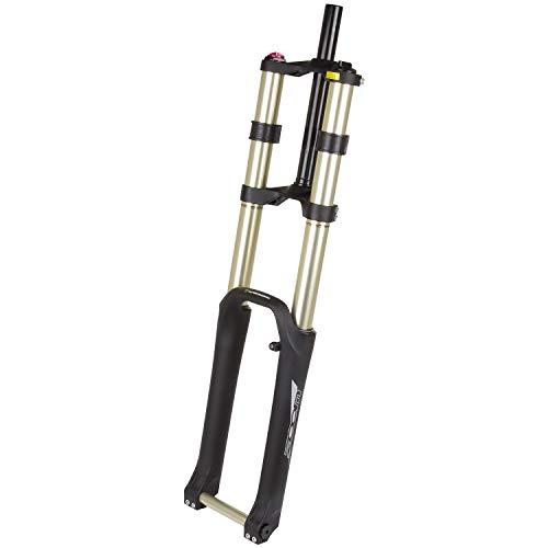 P4B | Doppelbrücken - Federgabel für 26 Zoll Downhill | Gabelschaft Außendurchmesser 28,5 mm/Innendurchmesser 25,4 mm | 280 mm Schaftlänge Ahead (ohne Gewinde) | Für Scheibenbremse (Postmount PM)