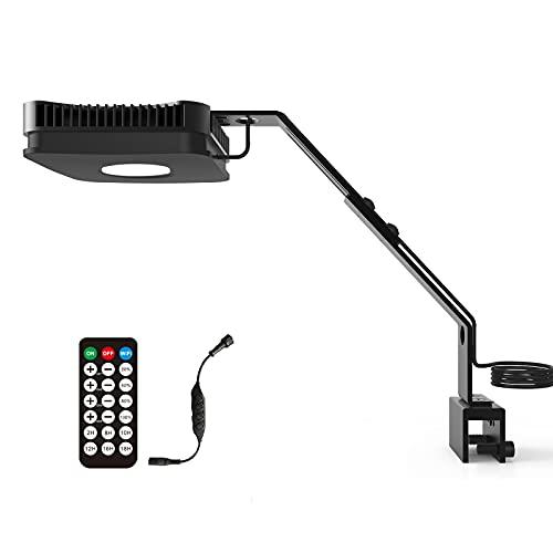 Lominie Luz LED para Acuario, Espectro Completo P80 Luz De Tanque Marino De Agua Salada con Control Remoto IR para Acuario De Arrecife De Coral, Compatible con Controlador WiFi (P80 Agua Salada)