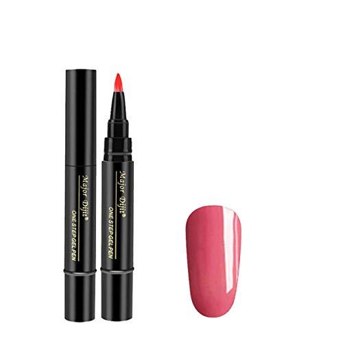 Gel-Nagellack-Stift-Kit mit UV-Licht, Gel-Nagel-Starter Farben One Step Gel-Nagel-Stif Nail Art 1 PC 3 in 1 Schritt-Nagel-Gel-Anstrich-Lack-Stift Ein Schritt-Nagel, zum des UVgels zu verwenden