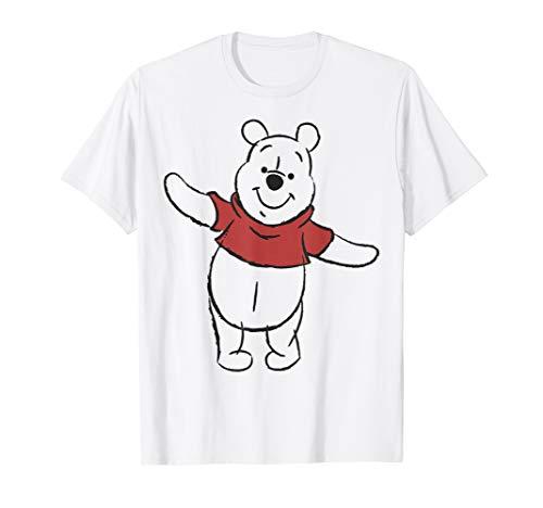 Disney Winnie The Pooh Art Bear Sketch T-Shirt