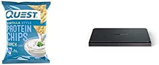 """Quest Nutrition Tortilla Style Protein Chips, Ranch, Baked, 1.1 Ounce (Pack of 12) + Amazon Dash Smart Shelf (Medium - 12""""..."""