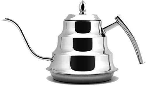 Bouilloire induction Automatique 1L Home 304 En acier inoxydable Sifflet Induction Gaz Général Restaurants pour Home Office Silver en plein air WHLONG