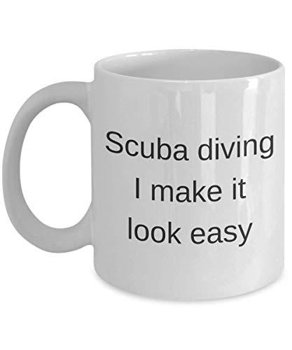 N\A Divertida Taza de café de Buceo Scua I Make It Kook Easy Gift For Scuba Diver