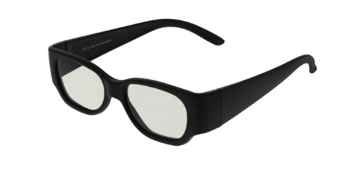 EX3D Eyewear passiv Polarisations REAL-3D Brille 6 x TH0002 Schwarz Für Kinder