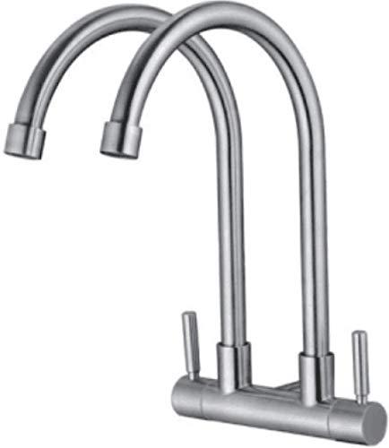 MBYW Keuken TAP Moderne RVS Keuken Sink TAP Sink Fauce 304 RVS in De Hoek schommelbare Swing Enkele Keuken Sink Koude Sink TAP Perfect voor Keukens