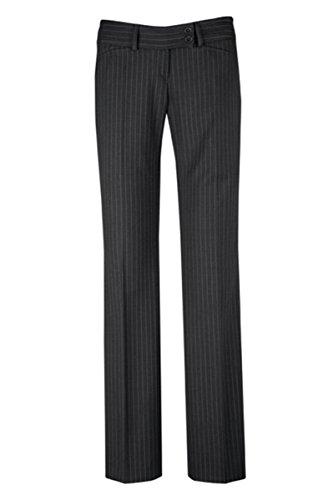 GREIFF Damen-Hose Anzug-Hose Premium Regular fit - Style 1352, Farbe: Anthrazit-Nadelstreifen, Größe: 46