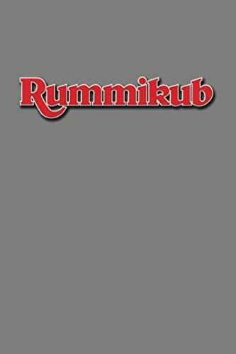 Rummikub: Score Book | Rummikub Lined Notebook (College-Ruled) | Perfect for Scorekeeping | Dark Grey