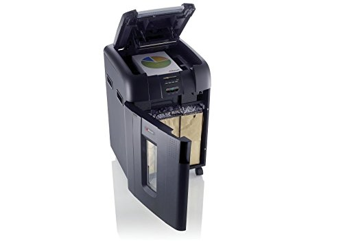 Rexel Auto+ 500X 2103500 Auto Feed 500 Sheet Cross Cut Shredder for Departmental Use (Up to 20 Users), 80 Litre Removable Bin, Includes Shredder Oil, Black