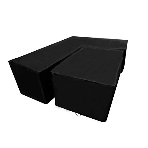 Dhouse L-Shaped Sofa Protective Cover Outdoor Waterproof Dust-Proof Garden Furniture Protection Cover Terrace Dining Rattan Corner Cover Left