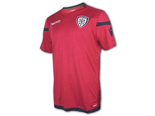 Macron Cagliari Calcio Training Shirt rot Fußball Trikot Jersey Serie A Fanshirt, Größe:XL