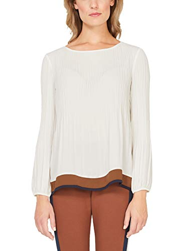 s.Oliver BLACK LABEL Damen 11.909.11.2590 Bluse, Beige (Cream White 0220), (Herstellergröße: 44)