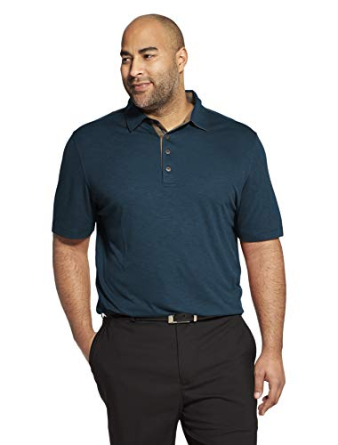 Van Heusen Men's Short Sleeve Air Performance Solid Polo Shirt, TUQ Seabed, Small