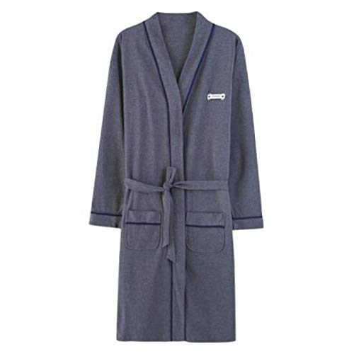 XFLOWR Frühling 100% Baumwolle Paar Robe Herbst Langarm V-Ausschnitt Komfortable...