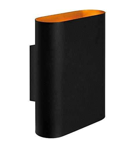 Lucide OVALIS – Lámpara de pared – 2 x E14 – Negro