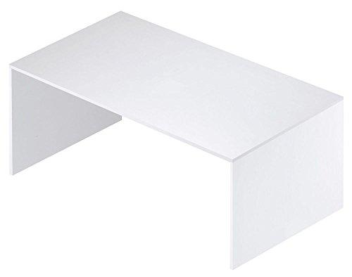 Schreibtisch-150cm breit mit Struktur und Finish in Weiß geflammt