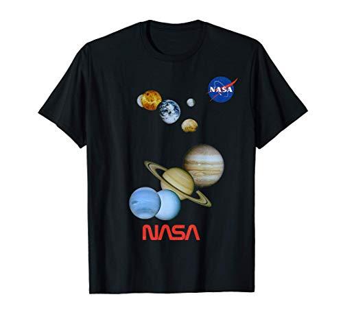 NASA Mars, Mercury, Mercury, Venus, Earth Moon, Saturn Image Maglietta