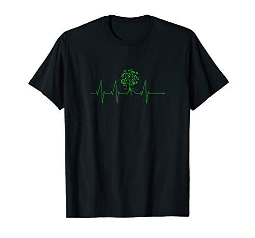 Herzschlag Pflanzen EKG Shirt | Garten Blumen Gärtner Bäume T-Shirt