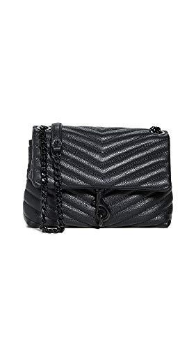 Rebecca Minkoff Women's Edie Crossbody Bag, Black/Black, One Size