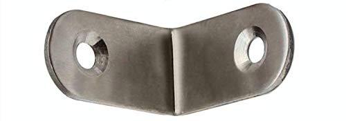 10x RVS hoekverbindingen in vele maten gatenhoek verbinder houtverbinder platte verbinder houten haakverbinder hoekverbinder L-connector metalen hoek balkhoek breedhoek 30x30x16mm
