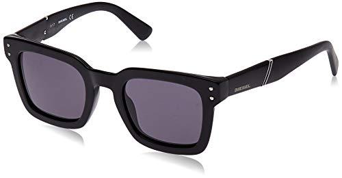 Diesel DL0229 01A 50 Monturas de gafas, Negro (Negro LucidoFumo), 50.0 Unisex Adulto