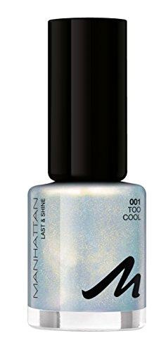 Manhattan Last & Shine Holographic Nail Polish, color 001 Too Cool, esmalte de uñas con efecto holográfico, 1 unidad (1 x 8 ml)