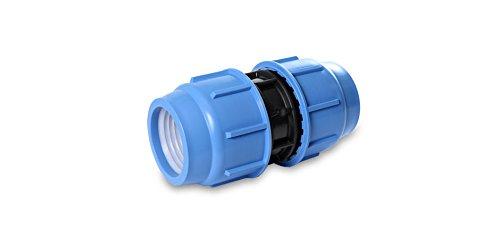 Raccord de réparation en polypropylène - Raccord de serrage pour tuyau en polyéthylène - DVGW (50 mm x 50 mm)