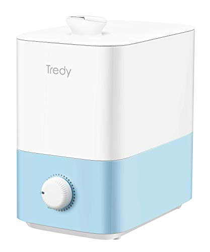 5L Top Fill Ultrasonic Cool-Mist Humidifier for Home Large Room Bedroom or Office, Quiet, Smart, Filterless, Lasts Upto 48H, Auto Shut-off