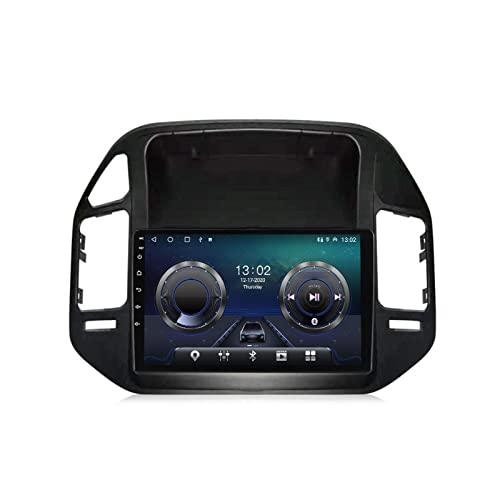Android Radio De Coche Bluetooth Autoradio para Mitsubishi Pajero V73 2004-2011 con Cámara De Visión Trasera Apoyo Llamadas Manos Libres/FM Radio/1080P Video/WiFi/Carplay/Dab+,4+32g