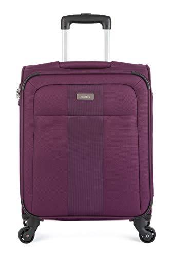 Antler Salisbury Exclusive Cabin, 55 cm, 34 L, Purple Koffer, liters, Schwarz (Black)