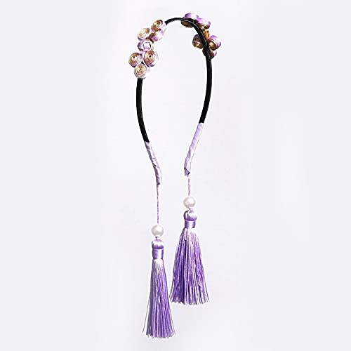 jiarun Diadema con borla para niños, para bebé, princesa, accesorios para el cabello, diadema para decoración de fiesta (color morado)