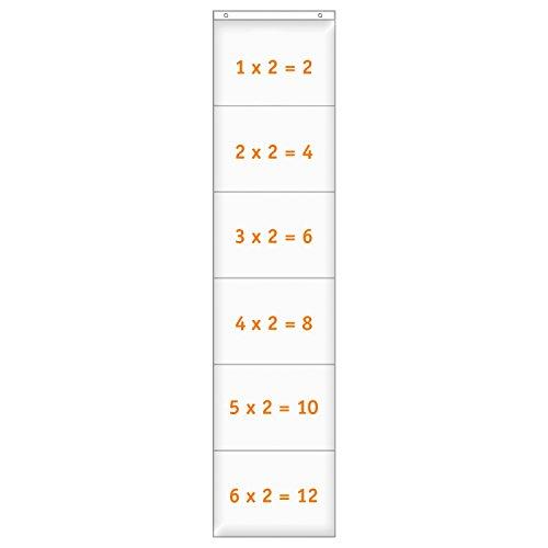 EDUPLAY 120527 Hänge-Orga-Taschen A4, 6 Einstecktaschen Querformat, 32 x 140 cm, klar (1 Stück)