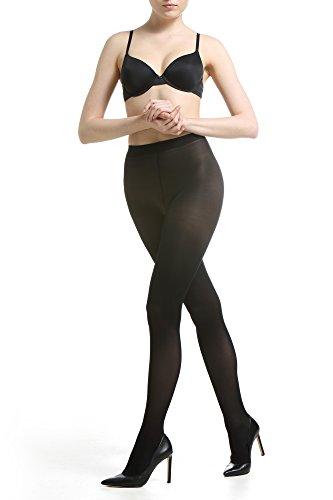 2 PACK - 40 Den Panty voor Vrouwen Meisjes Panty's - Hoge Taille Klassiek Zacht Premium Hosiery - Italiaanse Kwaliteit Microvezel, Gemaakt in Europa