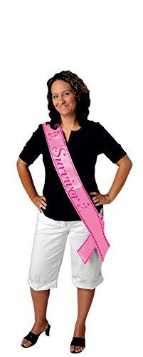 Beistle Survivor Satin Sash, 33 by 4-Inch, Pink/Cerise