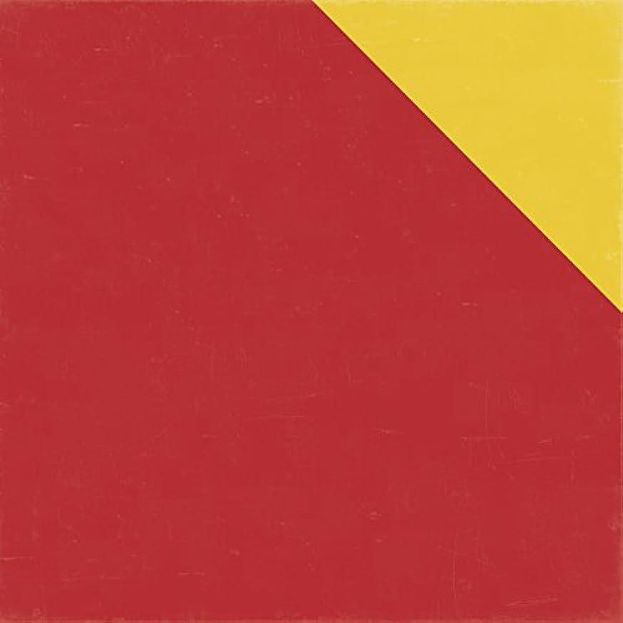 Echo Park Bark Red / Yellow Designer Solid Scrapbook Paper