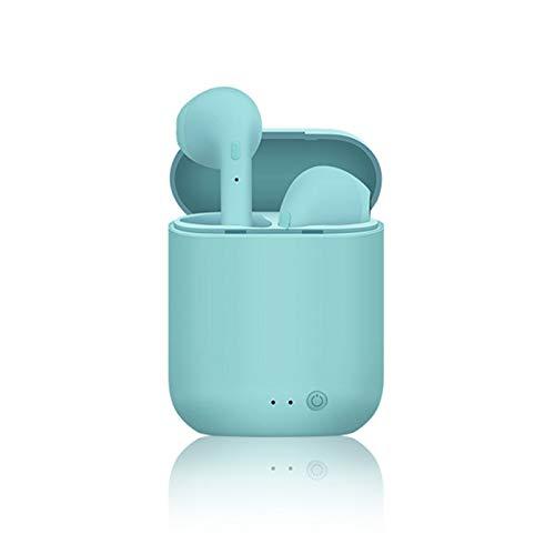 Mini-2 TWS Auriculares inalámbricos Bluetooth 5.0 Auriculares deportivos Auriculares con caja de carga de micrófono para iPhone Xiaomi PK i9s i7s (azul)
