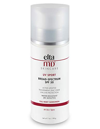 EltaMD UV Sport Sunscreen Lotion, Broad-Spectrum SPF 50, Non-Greasy, Mineral-Based Zinc Oxide...