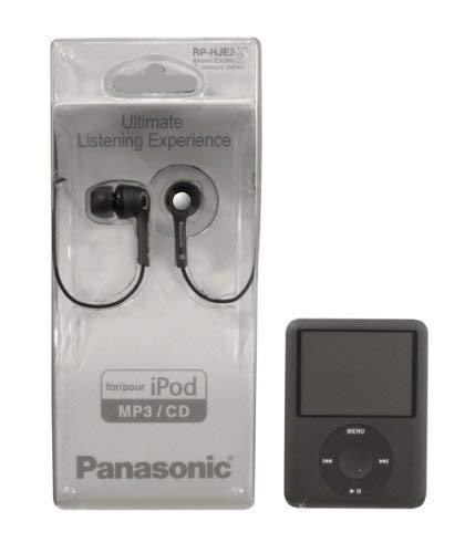 Panasonic RP HJE 240 E In Ear Kopfhörer (inkl. 3 Adapter in S,M,L) schwarz