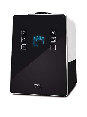 CASO AirVital Pro – Design Luftbefeuchter (5410), Wassertank: 6 L, Kalkfilter, Hybrid-Verdampfertechnik, variables Dampfvolumen, bis 50m² Raumgröße, mit Aromabox