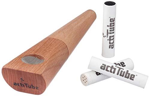 Tune Pfeife aus Birnenholz - Mehr Rauchgenuss durch Aktivkohle - 11,5 cm lang