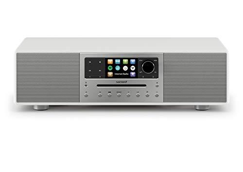 sonoro MEISTERSTÜCK Kompaktanlage mit CD Player, Bluetooth und Internet-Radio (Stereoanlage, UKW, WLAN, DAB Plus, Spotify, Amazon, Tidal, Deezer) Weiß