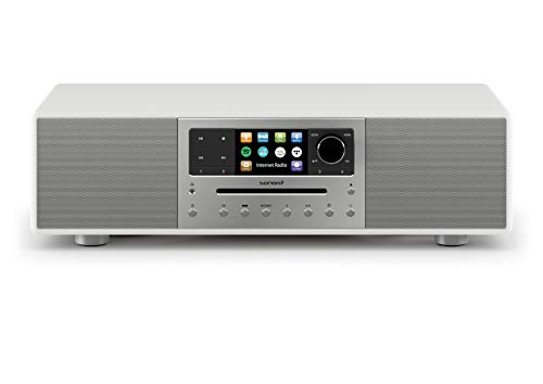 sonoro MEISTERSTÜCK Kompaktanlage mit CD-Player, Bluetooth und Internetradio (UKW/FM, WLAN, DAB Plus, Spotify, Amazon, Tidal, Deezer) Weiß 2020