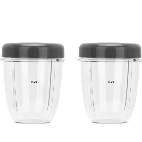 Hicello - Set di 2 tazze con coperchio e parti di ricambio per Nutribullet 600 W/900 W
