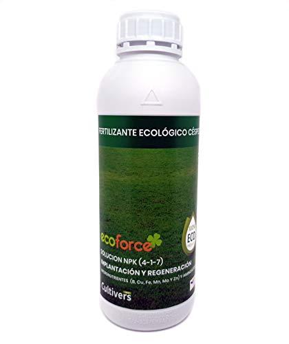 CULTIVERS Fertilizante Ecológico para Césped Líquido de 1 L con Micronutrientes y...