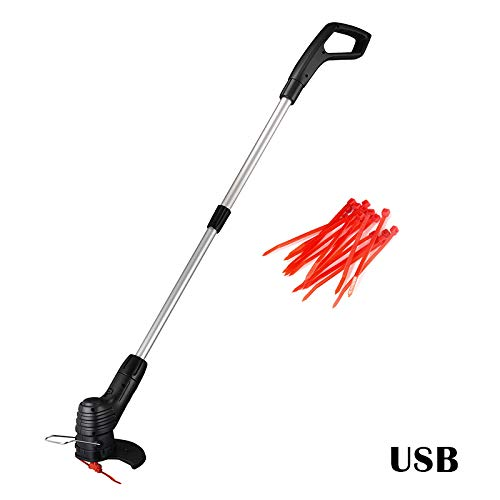 Best Review Of MSKJ Handheld Cordless Electric Grass Trimmer Weed Strimmer String Cutter for Garden