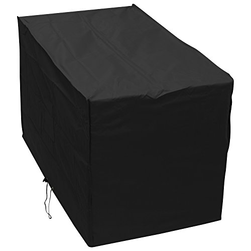 Woodside Black Waterproof Outdoor Garden Wagon Trolley Barbecue BBQ Cover Heavy Duty 600D Material 0.9m x 1.24m x 0.72m/2.10ft x 4.1ft x 2.4ft 5 YEAR GUARANTEE