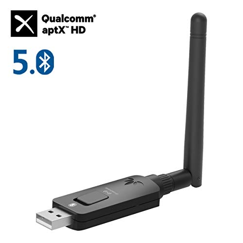 Avantree DG60 aptX-HD Long Range USB Bluetooth 5.0 Audio Transmitter Adapter for PC PS4 Mac Laptop, aptX Low Latency Wireless Audio Dongle for Headphones, Broadcast to Multiple Speakers, 164FT/50M